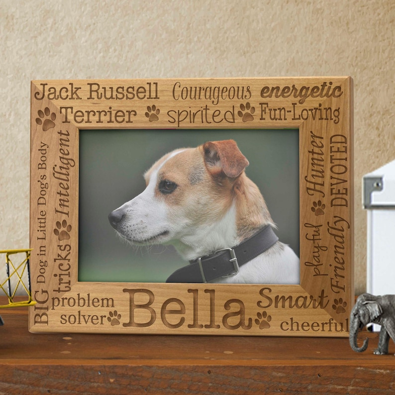 Personalized Pet Frame Breed Characteristics Engraved Pet image 0
