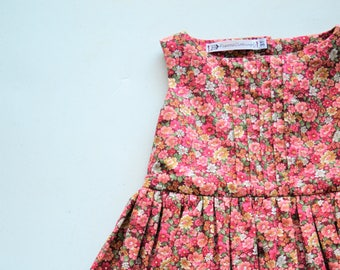 Toddler Floral Sleeveless Dress, Handmade by Papoose Clothing