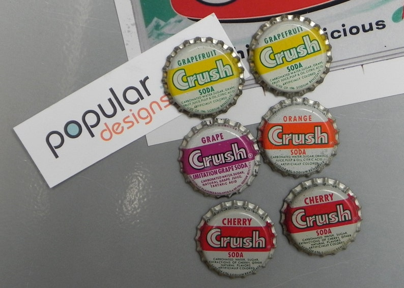 50  Vintage Grape Crush Soda Bottle Caps Unused
