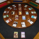 Wooden Dominion Card Game Rotating Board/Table