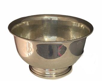 India Round Crab Design Pewter Bowl With Server Set
