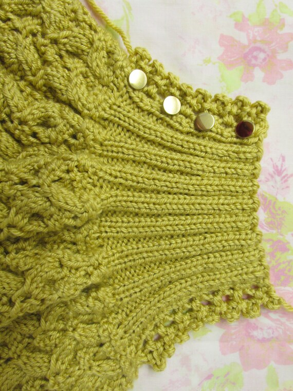 Shawl Etta Knit Pattern Converts From Scarf To Shawl To Etsy