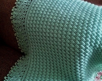 Mary Liz Warm & Lacy Reversible Baby Afghan Crochet Pattern