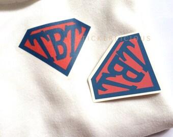 Personalized Kids Superman Logo - Custom Initial Letter Number - DIY Digital Printable