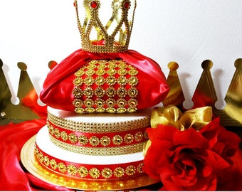 Prince Baby Shower Table Setup Red And Gold Ws Events In 2018