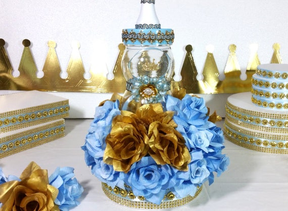 Little Prince Baby Shower Centerpiece For Royal Baby Shower Boys