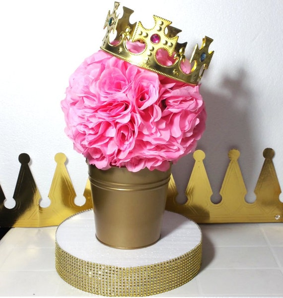 Flower Pail Royal Princess Baby Shower Table Centerpiece Etsy