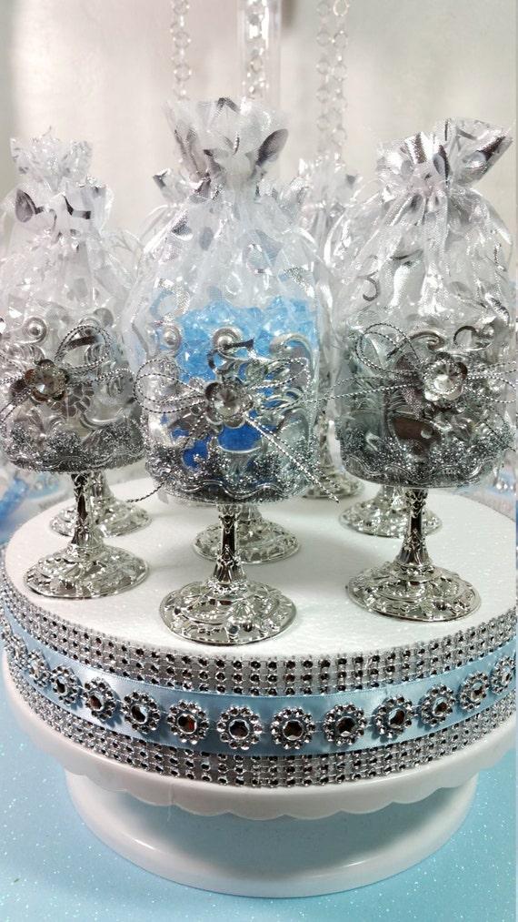 12 Royal Silver Favor Cups Royal Princeprincess Baby Shower Etsy