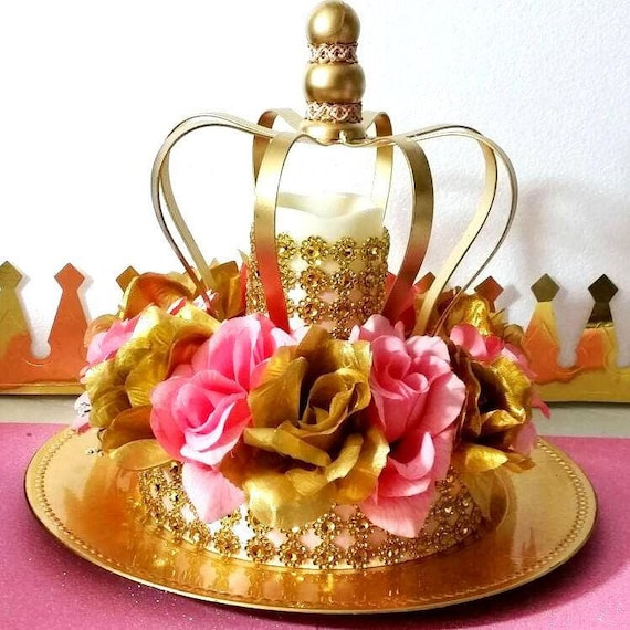 Crown Royal Princess Baby Shower Centerpiece Girls Pink And Etsy