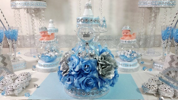 Royal Baby Shower Centerpiece For Royal Baby Showerbaby Blue Etsy