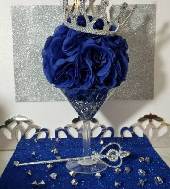 Martini Flower Ball Royal Prince Baby Shower Table Centerpiece Etsy