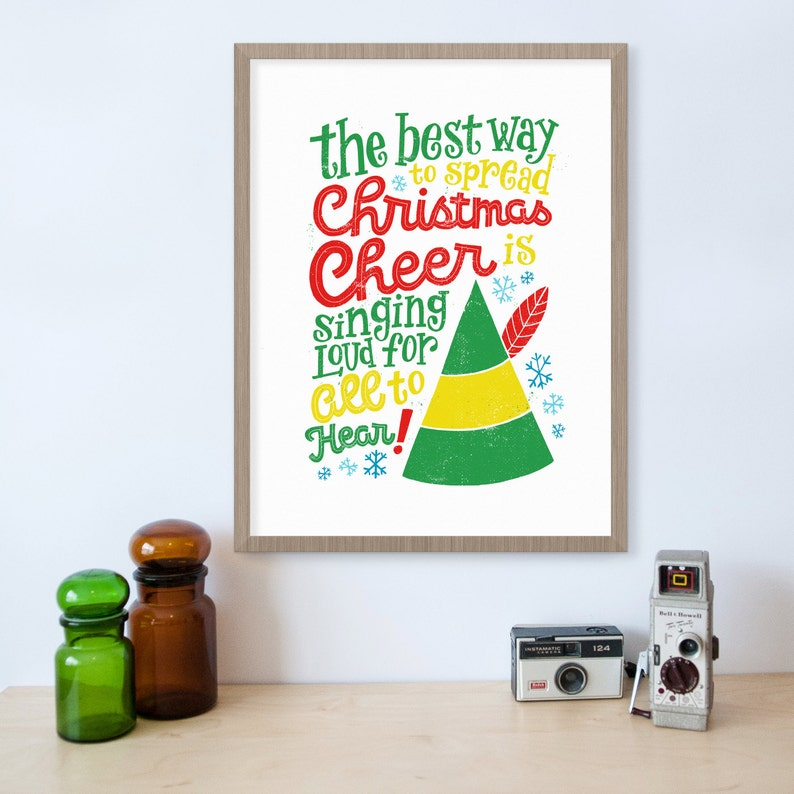 Elf Movie Buddy The Elf Christmas Decorations Movie Quotes Etsy