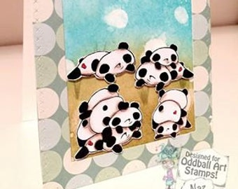 INSTANT DOWNLOAD Kawaii Panda Bears Digital Stamp Set - Panda Pack Image No.316 by Lizzy Love