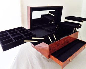 For Your Ease Only Lori Greiner Jewelry Box w/ Mirror ~  Drawer ~ Pull Out Storage