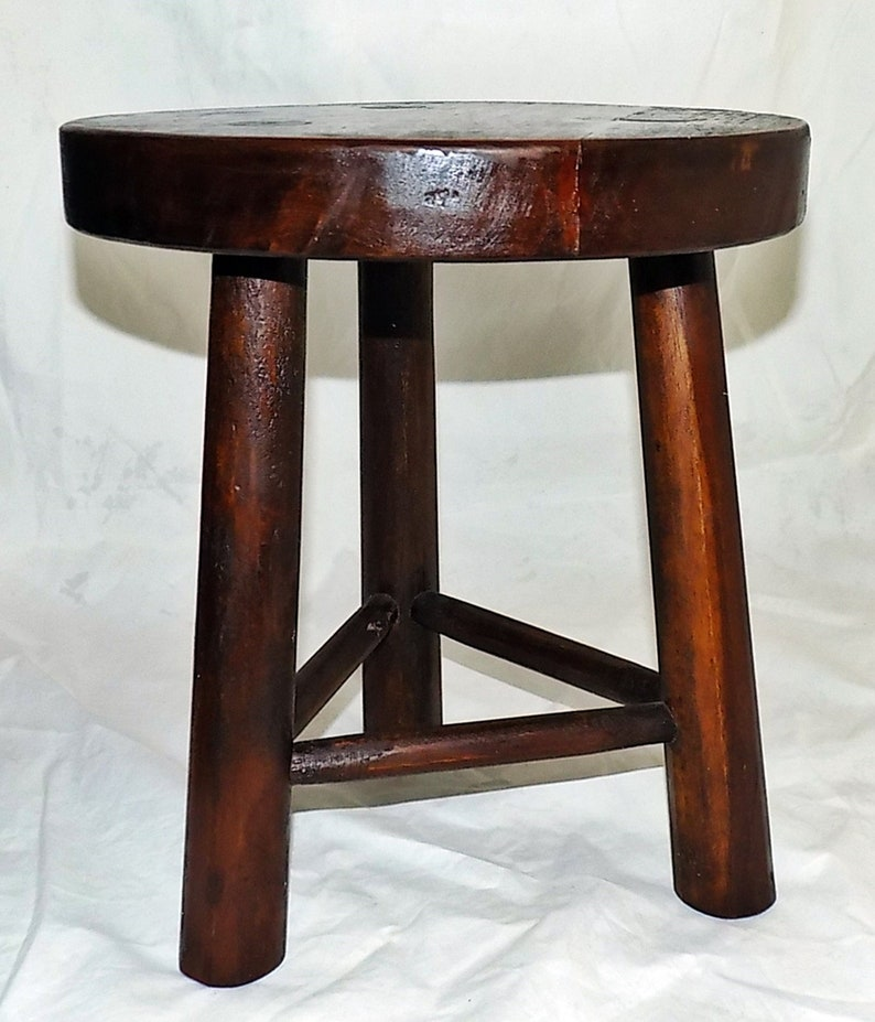 Astonishing Antique Old Fashioned 3 Legged Wooden Milking Stool 11 Tall Time Out Bad Chair Frankydiablos Diy Chair Ideas Frankydiabloscom