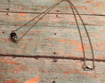 Simple Lava Bead Diffuser Necklace