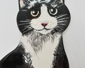 Huge beautiful Tuxedo Cat For Mosaic tiles wreaths or decoration