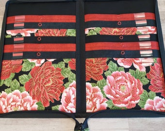 Simply Circulars case in Classic Red and black Asian Floral