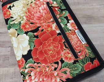 Double Double case in Red and Black Asian Floral