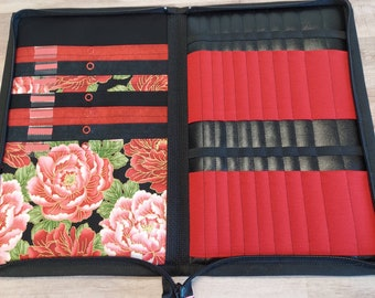Tips Too case in Classic Red and black Asian Floral
