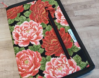 Double Double case in Classic Red and black Asian floral