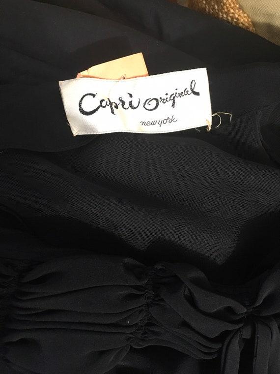 1940s Black Party Evening Dress 40s Capri Gown - image 8