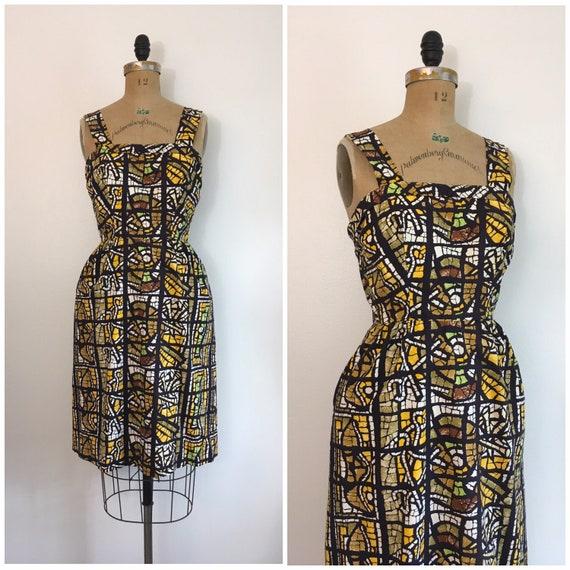 Vintage 1950s D B Fuller Fabrics Modern Master Ori