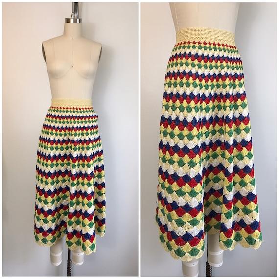 Vintage 1950s 1960s Raffia Rainbow Skirt 50s 60s C