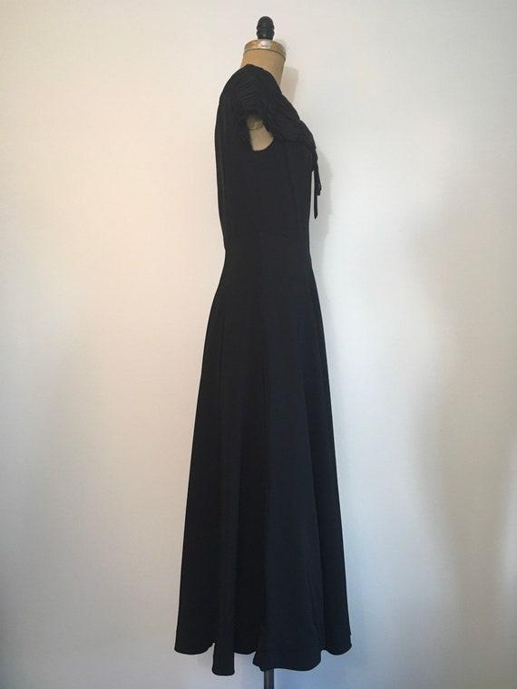 1940s Black Party Evening Dress 40s Capri Gown - image 7
