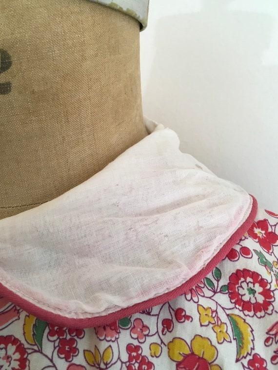 1930s Cotton Pink Floral Dress 30s Floral House D… - image 9