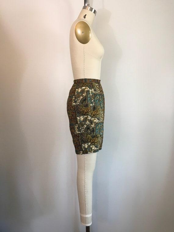 Vintage 1950s 1960s Jantzen Shorts 50s 60s Batik … - image 4
