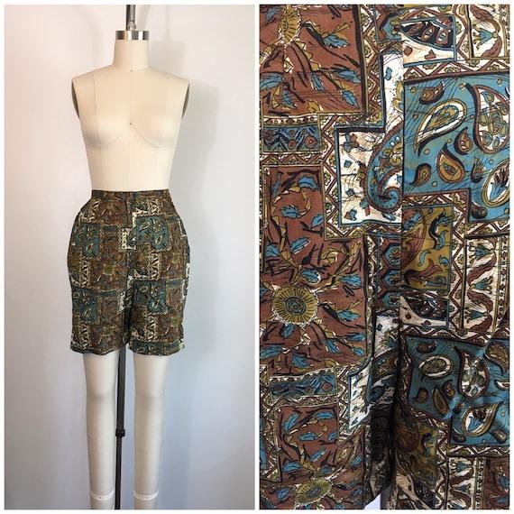 Vintage 1950s 1960s Jantzen Shorts 50s 60s Batik P