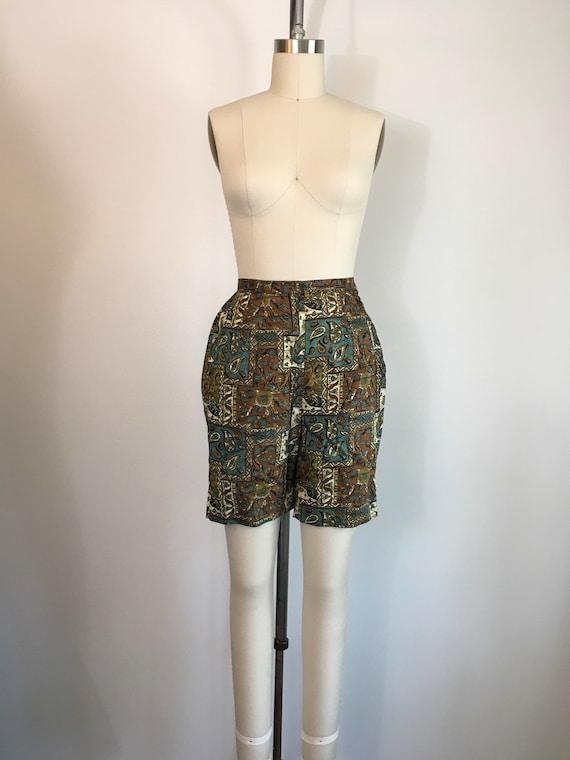Vintage 1950s 1960s Jantzen Shorts 50s 60s Batik … - image 2