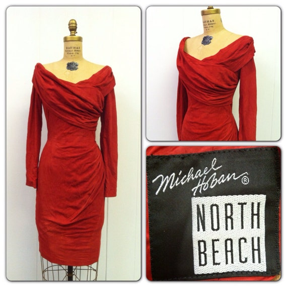 1980s North Beach Suede Dress 80s Michael Hoban