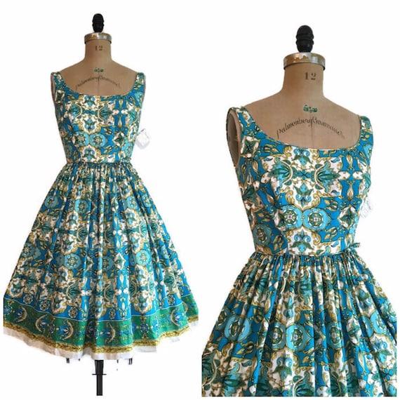 Vintage 1950s 1960s Tori Richards Hawaiian Dress 5