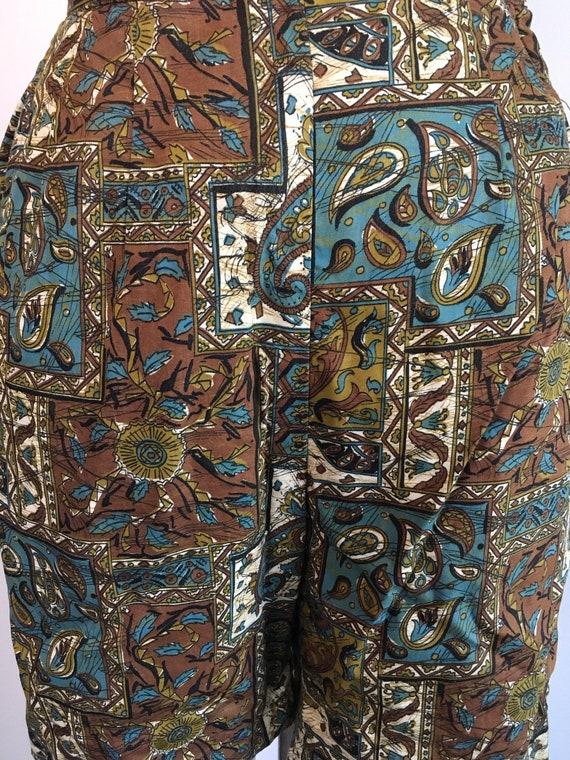 Vintage 1950s 1960s Jantzen Shorts 50s 60s Batik … - image 3
