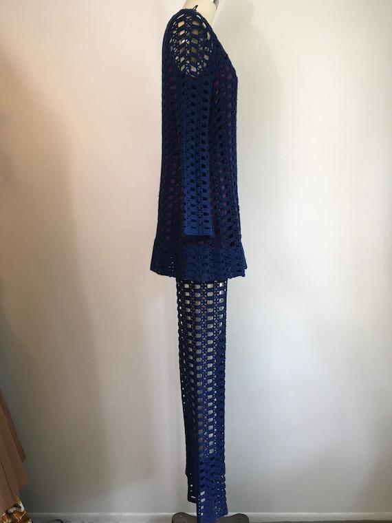 Vintage 1960s Golden Spider Knitwear Crochet Knit… - image 5
