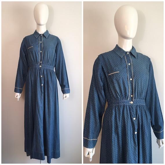 Antique Vintage 1900s Edwardian Chore Dress 1910s