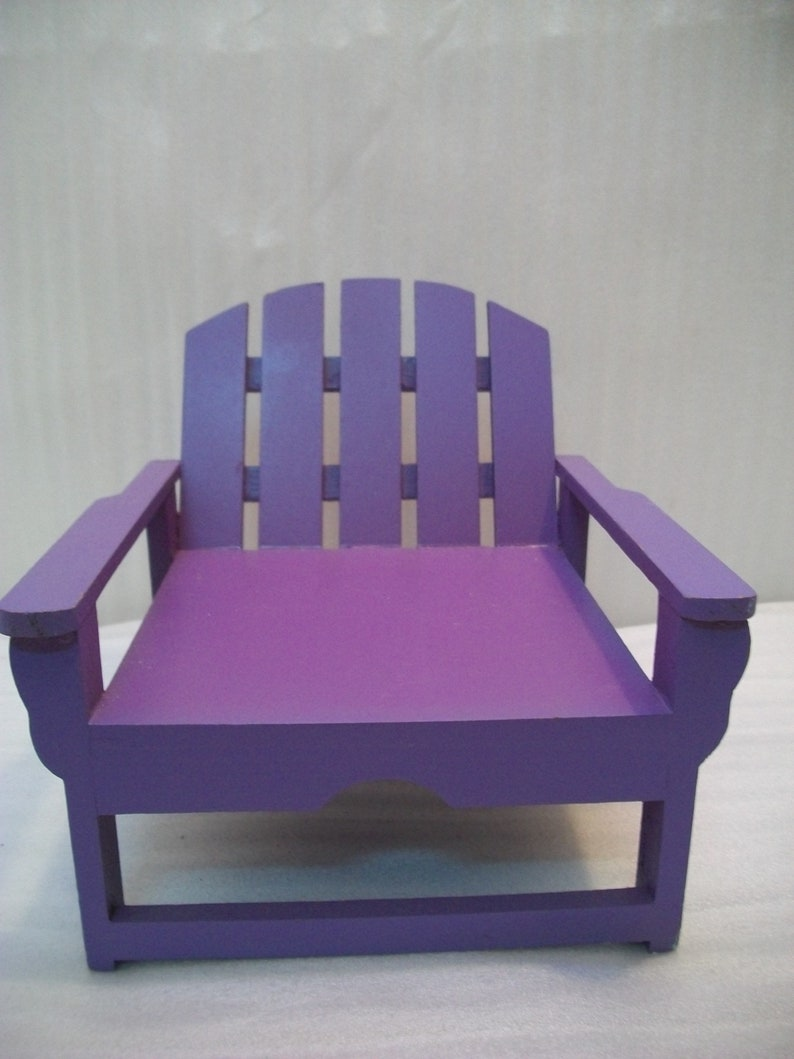Craft Supply Small Doll Chair Chair Plant Stand Purple Miniature Chair For Crafts And Art Small Wood Miniature Chair Dollhouse Crafts