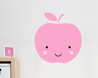 Apple Nursery Wall Decals, Fruit Baby Room Wall Art, Sweet Apple Vinyl Sticker Home Decor, Australian made