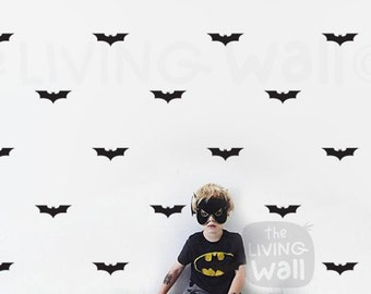 Batman Logo wall sticker kids room, Hero wall decal for boys room art decor, Super Hero Batman Removable wall stickers art mural decoration