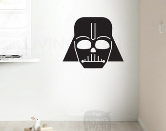 Darth Vader Star Wars Wall Decals, vinyl wall decal kids room, Star Wars Children Nursery Room Bedroom, Monochrome Decor, Australian made