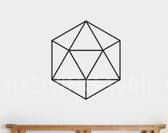 Diamond Wall Decal Sticker, Hexagon Removable Vinyl Geometric Decoration Wall Art Home Decor, Australian Made