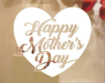 Happy Mother's Day sticker , Decorative Glass Shop Window Display, Removable Stickers Australian Made