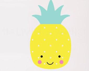 Pineapple Nursery Wall Decals, Fruit Baby Room Wall Art, Sweet Pineapple Vinyl Sticker Home Decor, Australian made
