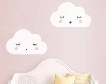 Dreaming Clouds Wall Decals, Cloud Nursery Decal, Sweet Clouds Wall Stickers, Australian Made Wall Decor