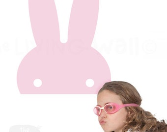 Bunny Ears Nursery, Big Miffy Wall Decals kids room, Extra Large Soft Pink Bunnie Wall Art Home Decor, Kids Room Australian made