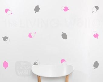 Ice Cream Stick Nursery Wall Pattern Decals, Kids Room Vinyl Wall Sticker Decal Art, Fruit Monochrome Wall Decor Australian made