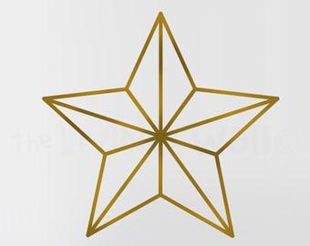Star Wall Decal Sticker, Star Removable Vinyl Geometric Decoration Wall Art Home Decor, Australian Made