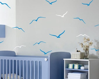 Vinyl Wall Sticker Decal Home - Flock of seagulls